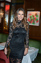 LONDON, ENGLAND 7 DECEMBER 2016: Elizabeth Hurley at an intimate performance by kylie Minogue at The Ivy, 5 West Sreet, London, England. 7 December 2016.