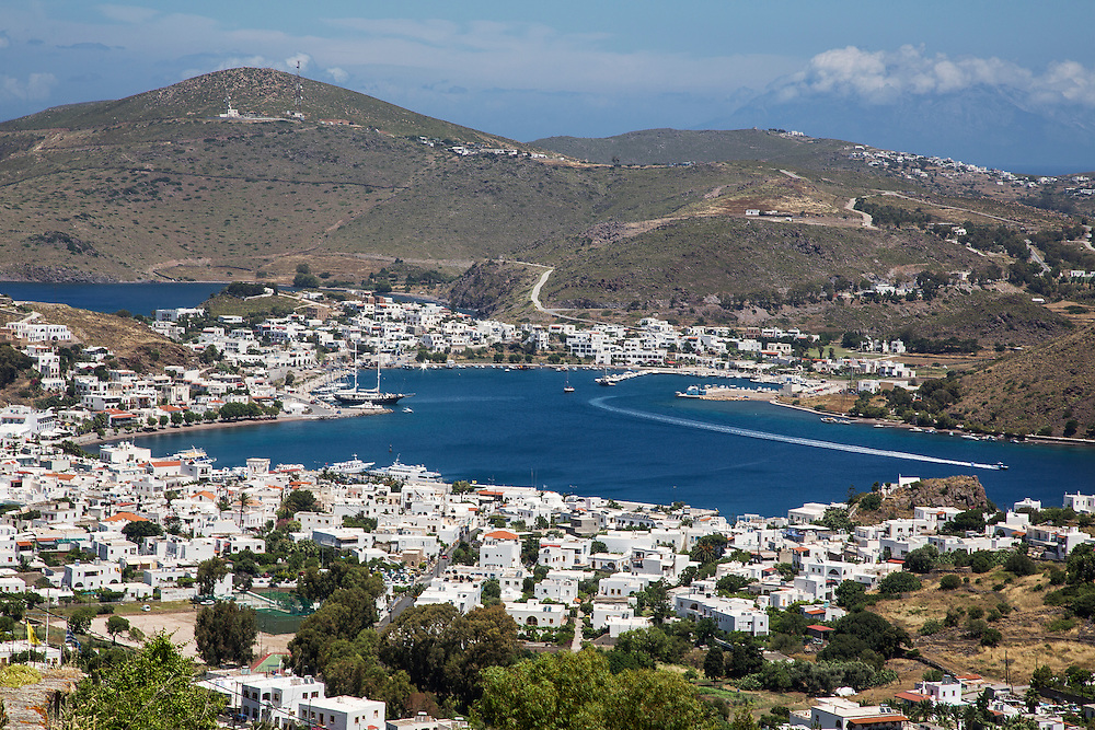 The port of Skala on the greek island of Patmos