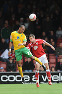 Bristol - Saturday, October 18th, 2008: Michael McIndoe of Bristol City and Elliot Omozusi of Norwich City during the Coca Cola Championship match at Ashton Gate, Bristol. (Pic by Alex Broadway/Focus Images)