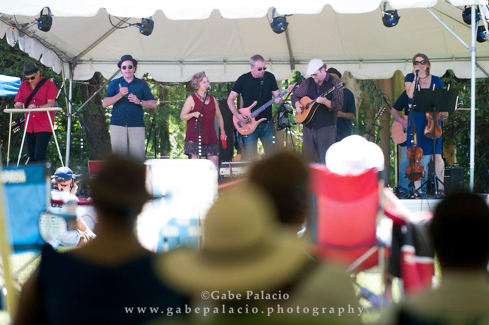 Spuyten Duyvil performing at the American Roots Music Festival at Caramoor in Katonah New York.photo by Gabe Palacio