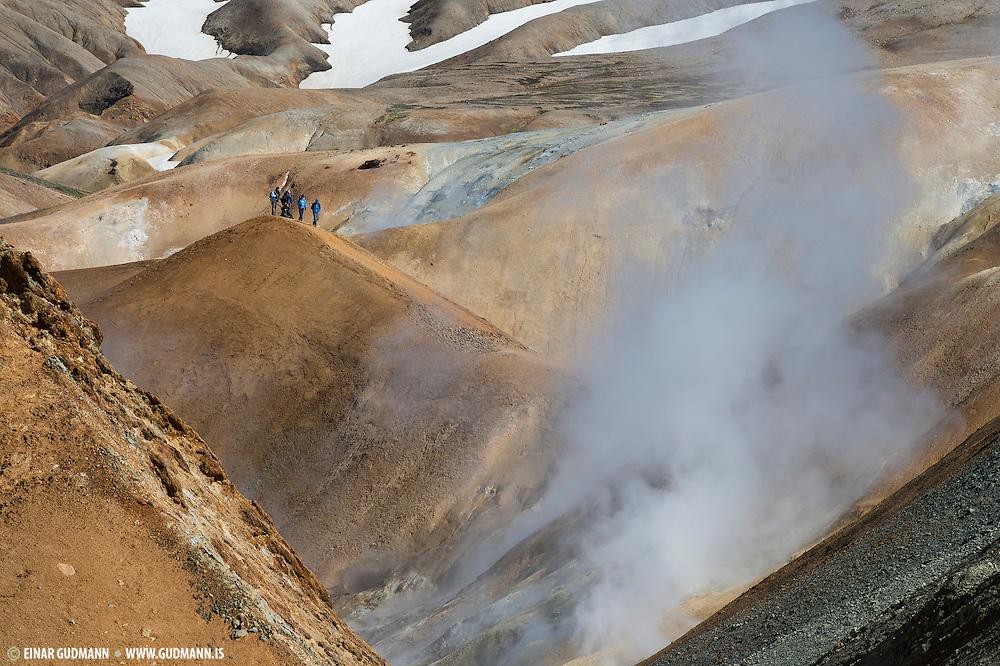 Kerlingarfjöll in the hightland of Iceland.