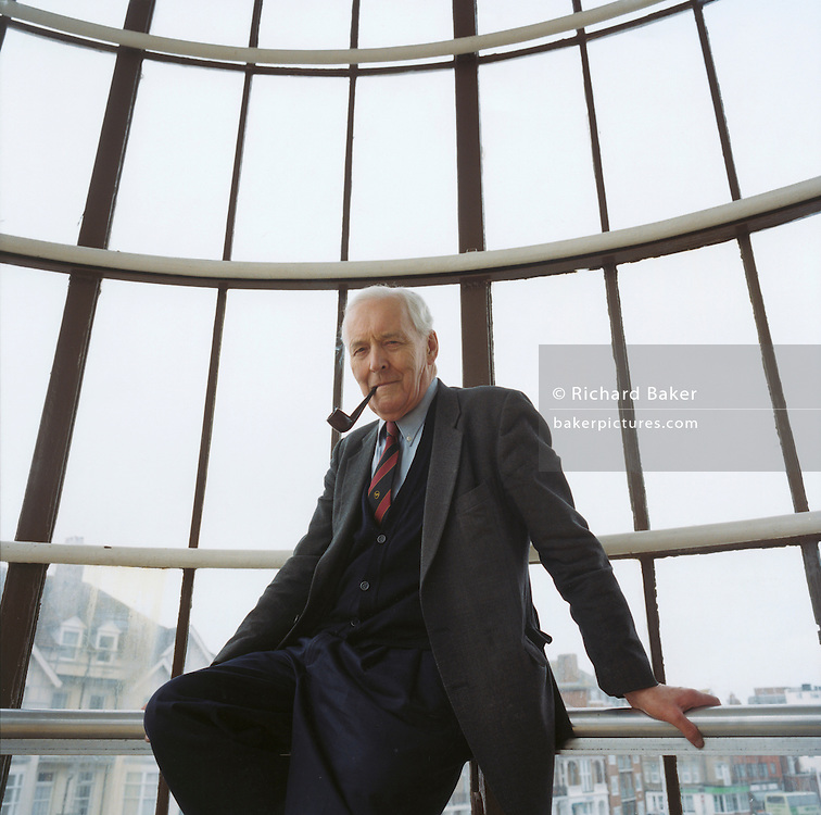 Ex-labour politician Tony Benn at the De la Warre Pavillion, Bexhill-on-Sea, East Sussex, during his roadshow tour