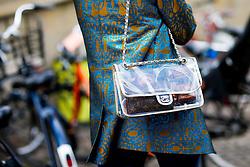 Street style, Marianne Theodorsen arriving at Freya Dalsojo Spring Summer 2017 show held at Borsen, in Copenhagen, Denmark, on August 10, 2016. Photo by Marie-Paola Bertrand-Hillion/ABACAPRESS.COM  | 558625_008 Copenhagn Danemark Denmark