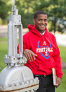 Kashmere High School student Aaron Reese poses for a photograph at the Houston Community College Northeast campus, October 9, 2014.