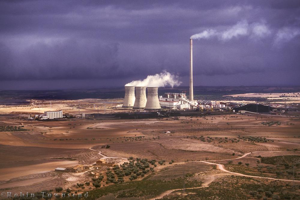 FECSA Thermoelectric plant at Andorra, Teruel, Aragon, Spain