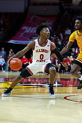 NORMAL, IL - February 15: DJ Horne during a college basketball game between the ISU Redbirds and the Valparaiso Crusaders on February 15 2020 at Redbird Arena in Normal, IL. (Photo by Alan Look)