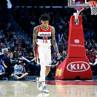 09 December 2017: Washington Wizards forward Kelly Oubre Jr. (12) is seen during the LA Clippers 113-112 victory over the Washington Wizards, at the Staples Center, Los Angeles, California, USA.