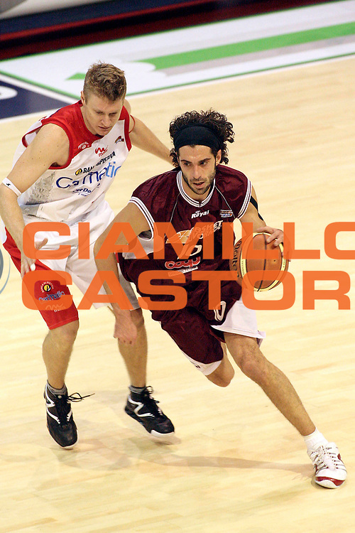 DESCRIZIONE : Pistoia Lega A2 2008-09 Carmatic Pistoia Livorno Basket<br /> GIOCATORE : Rossetti Marco <br /> SQUADRA : Livorno Basket<br /> EVENTO : Campionato Lega A2 2008-2009<br /> GARA : Carmatic Pistoia Livorno Basket<br /> DATA : 06/12/2008<br /> CATEGORIA : Palleggio<br /> SPORT : Pallacanestro<br /> AUTORE : Agenzia Ciamillo-Castoria/Stefano D'Errico