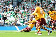 Curtis Main blocks shot by Moussa Dembele during the William Hill Scottish Cup Final match between Celtic and Motherwell at Hampden Park, Glasgow, Scotland on 19 May 2018. Picture by Kevin Murray.