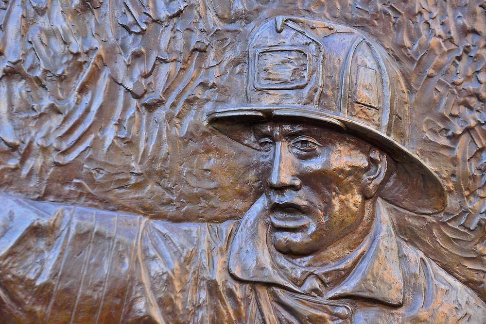 Fire Fighter Memorial at Ground Zero, Manhattan,New York, Manhattan, USA