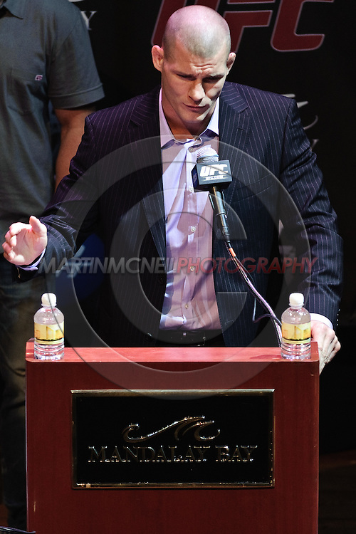 LAS VEGAS, NEVADA, JULY 9, 2009: Michael Bisping is pictured during the pre-fight press conference for UFC 100 inside the House of Blues in Las Vegas, Nevada