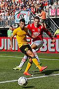 ALKMAAR - 30-08-2015, AZ - Roda JC, AFAS Stadion, 0-1, Roda JC speler Farshad Noor (l), AZ speler Vincent Janssen.