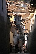 Street in Barrio de San Blas  Cusco, Peru