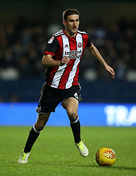"Sheffield United's Chris Basham in action during the game during the Sky Bet Championship match at Loftus Road, London. PRESS ASSOCIATION Photo. Picture date: Tuesday October 31, 2017. See PA story SOCCER QPR. Photo credit should read: Steven Paston/PA Wire. RESTRICTIONS: EDITORIAL USE ONLY No use with unauthorised audio, video, data, fixture lists, club/league logos or ""live"" services. Online in-match use limited to 75 images, no video emulation. No use in betting, games or single club/league/player publications."