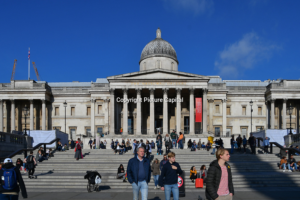 National Gallery in Trafalgar Square, London, UK 24 October 2018