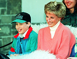 "Embargoed to 0001 Monday August 21 File photo dated 27/3/1994 of Prince William with his mother, Diana, Princess of Wales. Diana, Princess of Wales was a woman whose warmth, compassion and empathy for those she met earned her the description the ""people's princess""."