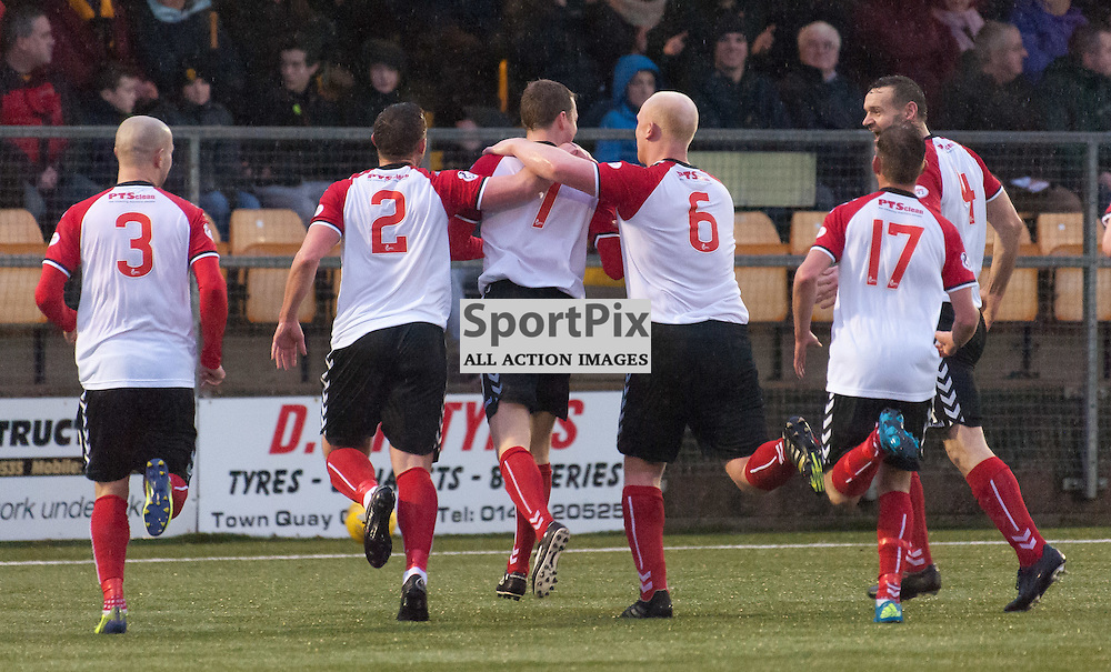 Clyde celebrations for 0-2 ¥ Annan Athletic v Clyde ¥ Ladbrokes League 2 ¥ 26 December 2015 ¥ © Russel Hutcheson | SportPix.org.uk