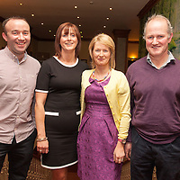 Brian Hegarty with his wife Una, and Brendan Brody with his wife Reta, both members of the 1996 Inagh/Kilnamona winning team at the Junior A Presentation Night at the Falls Ennistymon