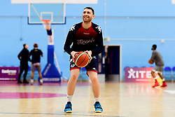 Josh Rogers of Bristol Flyers warms up prior to tip off - Photo mandatory by-line: Ryan Hiscott/JMP - 06/12/2019 - BASKETBALL - SGS Wise Arena - Bristol, England - Bristol Flyers v Sheffield Sharks - British Basketball League Championship
