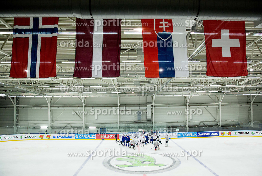 Practice session of Slovenian National Ice Hockey Team 1 day prior to the 2015 IIHF World Championship in Czech Republic, on April 30, 2015 in Practice arena Ostrava, Czech Republic. Photo by Vid Ponikvar / Sportida