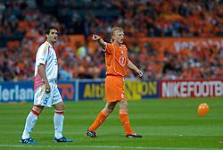 04-06-2005 VOETBAL: NEDERLAND-ROEMENIE: ROTTERDAM <br /> Het Nederlands elftal heeft weer een stap gezet richting het WK van volgend jaar in Duitsland. In Rotterdam werd Roemenië met 2-0 verslagen / Dirk Kuyt <br /> ©2005-WWW.FOTOHOOGENDOORN.NL