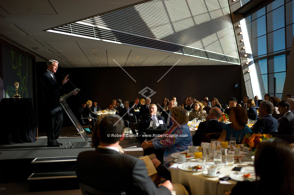 David Westin, former head of ABC News at the International Emmys Breakfast at Hearst Tower in New York. ..Photo by Robert Caplin