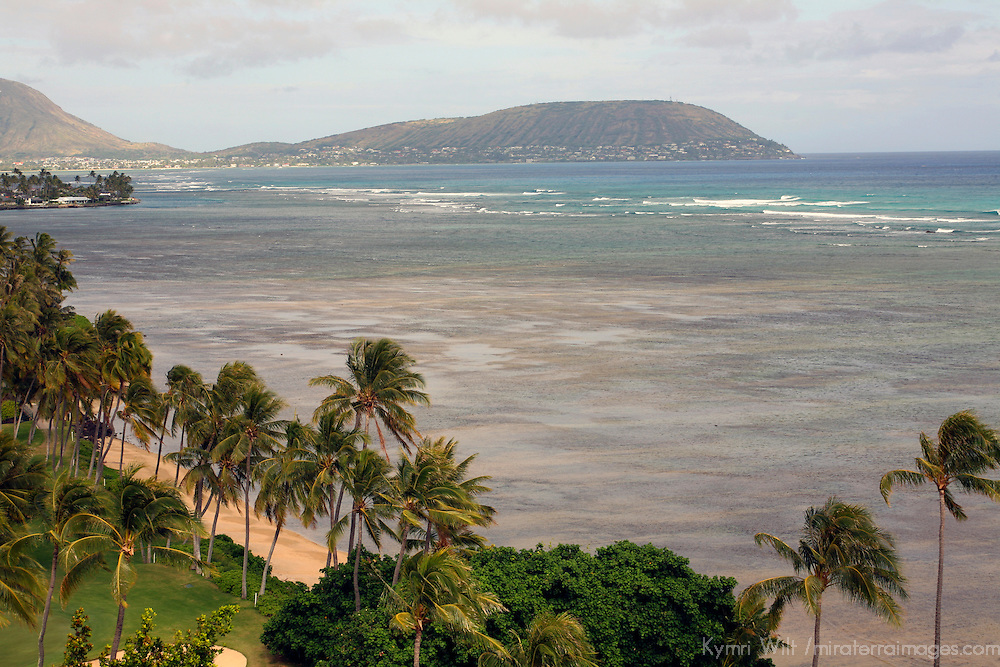 A balcony view of the waters of the Pacific ocean and beach at the Kahala Hotel & Resort.