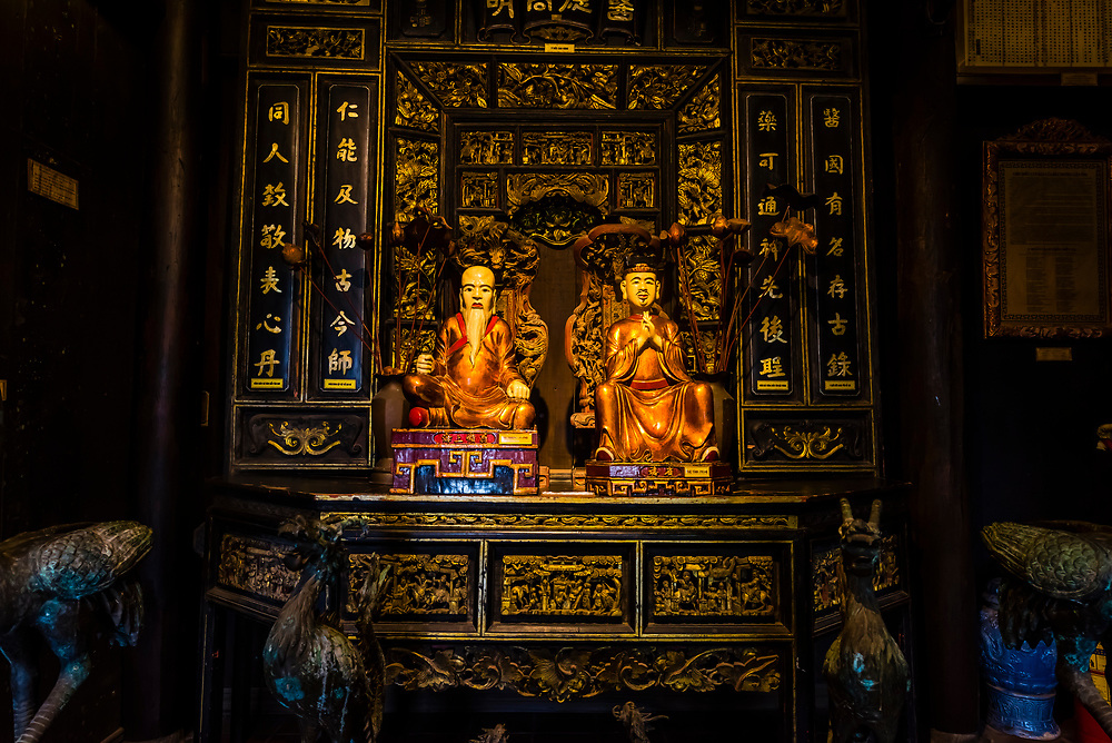 Statues of prominent ancient physicians, Museum of Traditional Vietnamese Medicine, Ho Chi Minh City (Saigon), Vietnam.