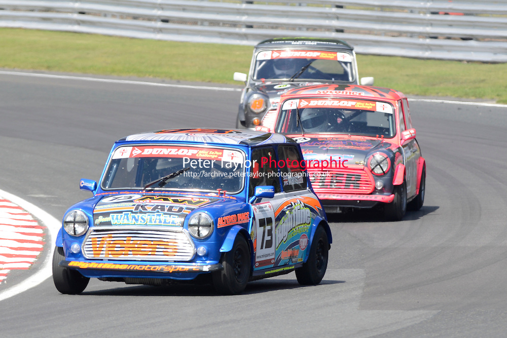 #73 Spencer Wanstall Mini 7 during Mini Se7en - Race 1  as part of the Mini Festival  at Oulton Park, Little Budworth, Cheshire, United Kingdom. August 08 2015. World Copyright Taylor/PSP. Copy of publication required for printed pictures.  Every used picture is fee-liable. http://archive.petertaylor-photographic.co.uk