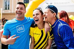 Klemen Bucan, Ula Furlan Passion4life Ambassador and Andrej Tezak Tesky before Wings for Life world marathon in Ljubljana, Slovenia on 7th of May, 2017 .Photo by Grega Valancic / Sportida
