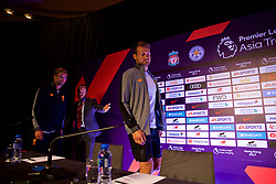 HONG KONG, CHINA - Tuesday, July 18, 2017: Liverpool's goalkeeper Simon Mignolet and manager Jürgen Klopp arrive for a press conference at the Grand Hyatt Hotel Hong Kong ahead of the Premier League Asia Trophy 2017. (Pic by David Rawcliffe/Propaganda)