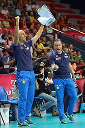 FABIO SOLI E MARCO BONITTA<br /> ITALIA - OLANDA<br /> VOLLEYBALL WORLD GRAND PRIX 2016<br /> BARI 18-06-2016<br /> FOTO GALBIATI - RUBIN