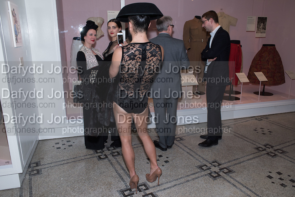 LYALL HAKARAIA; SHARON TRICKETT; ADEL MILDRED; Undressed: A Brief History of Underwear<br /> At the V&A , South Kensington. London. 13 April 2016