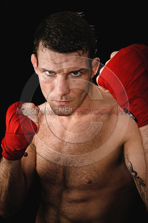 A portrait of mixed martial arts athlete Michael Bisping
