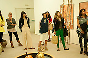 IRINA LAZAREANU AT THE HALES  GALLERY, Design Your Own Timberland breakfast and Autumn/ Winter 2011 preview. Timberland. 1 Fournier St. London. Followed by an art tour by Julia Royce. 8 June 2011. <br /> <br />  , -DO NOT ARCHIVE-© Copyright Photograph by Dafydd Jones. 248 Clapham Rd. London SW9 0PZ. Tel 0207 820 0771. www.dafjones.com.