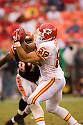 KANSAS CITY, MO - SEPTEMBER 10:  Tight end Tony Gonzalez of the Kansas City Chiefs catches a pass during a game against the Cincinnati Bengals on September 10, 2006 at Arrowhead Stadium in Kansas City, Missouri..The Bengals won 23 to 10.  (Photo by Wesley Hitt/Getty Images)***Local Caption*** Tony Gonzalez