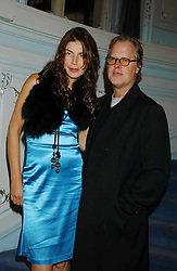 ANNABELLE BROOKS and screen writer JAMES DEARDEN at a party to celebrate the publication of 'Princesses' the six daughters of George 111 by Flora Fraser held at the Saville Club, Brook Street, London W1 on 14th September 2004.<br /><br />NON EXCLUSIVE - WORLD RIGHTS