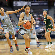 HARTFORD, CONNECTICUT- JANUARY 10: Gabby Williams #15 of the Connecticut Huskies in action during the the UConn Huskies Vs USF Bulls, NCAA Women's Basketball game on January 10th, 2017 at the XL Center, Hartford, Connecticut. (Photo by Tim Clayton/Corbis via Getty Images)