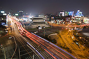 Dongdaemun (East Gate). Evening trafic.