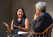 Photography &copy;Mara Lavitt<br /> September 17, 2018<br /> Yale Center for British Art, New Haven<br /> <br /> Dr. Patricia Nez Henderson was the 2018 Women of Yale conversation with Yale President Peter Salovey.