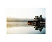 Lake Wedington near Fayetteville Arkansas<br /> boat house