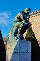 France, Paris (07), musée Rodin, 77 rue de Varenne, le Penseur // France, Paris, Rodin museum, The Thinker