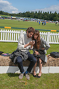 HARRY GILLIAM; BETH EDWARDS, The Veuve Clicquot Gold Cup Final.<br /> Cowdray Park Polo Club, Midhurst, , West Sussex. 15 July 2012.