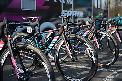 Canyon//SRAM lined up for the race - 2016 Omloop het Nieuwsblad - Elite Women, a 124km road race from Vlaams Wielercentrum Eddy Merckx to Ghent on February 27, 2016 in East Flanders, Belgium.