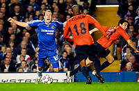 Photo: Alan Crowhurst.<br />Chelsea v FC Porto. UEFA Champions League. Last 16, 2nd Leg. 06/03/2007. Chelsea's Arjen Robben  takes a dive and gets a yellow card.