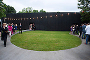 SERPENTINE PAVILION DESIGNED BY PETER ZUMTHOR, The Summer party 2011 co-hosted by Burberry. The Summer pavilion designed by Peter Zumthor. Serpentine Gallery. Kensington Gardens. London. 28 June 2011. <br /> <br />  , -DO NOT ARCHIVE-© Copyright Photograph by Dafydd Jones. 248 Clapham Rd. London SW9 0PZ. Tel 0207 820 0771. www.dafjones.com.
