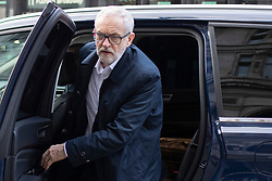 © Licensed to London News Pictures. 08/01/2020. London, UK. Labour Party leader Jeremy Corbyn arrives in Westminster . Photo credit: George Cracknell Wright/LNP