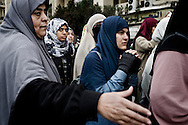 Protestors anti-gouvernment in Tahrir square in Cairo on February 5, 2010.© ALESSIO ROMENZI