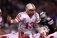 Nebraska quarter back Zac Taylor in action against Kansas State at Bill Snyder Family Stadium in Manhattan, Kansas, October 14, 2006.  The Huskers beat the Wildcats 21-3.<br />