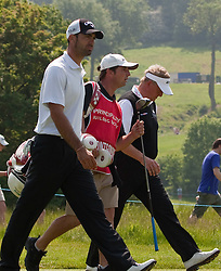 03.06.2010, Celtic Manor Resort and Golf Club, Newport, ENG, The Celtic Manor Wales Open 2010, im Bild Alvaro Quiros (SPA) and Colin Montgomerie (GBR). EXPA Pictures © 2010, PhotoCredit: EXPA/ M. Gunn / SPORTIDA PHOTO AGENCY